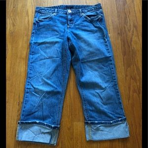Tommy Hilfiger Cropped Cuffed Jeans 10